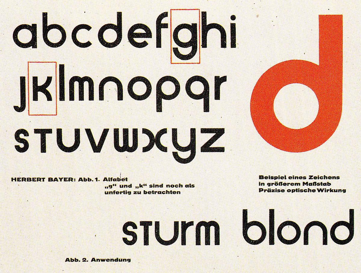 alphabet bauhaus