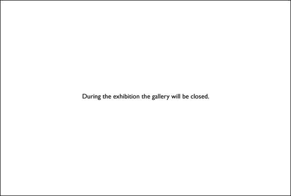 Carton d'invitation exposition vide Robert Barry