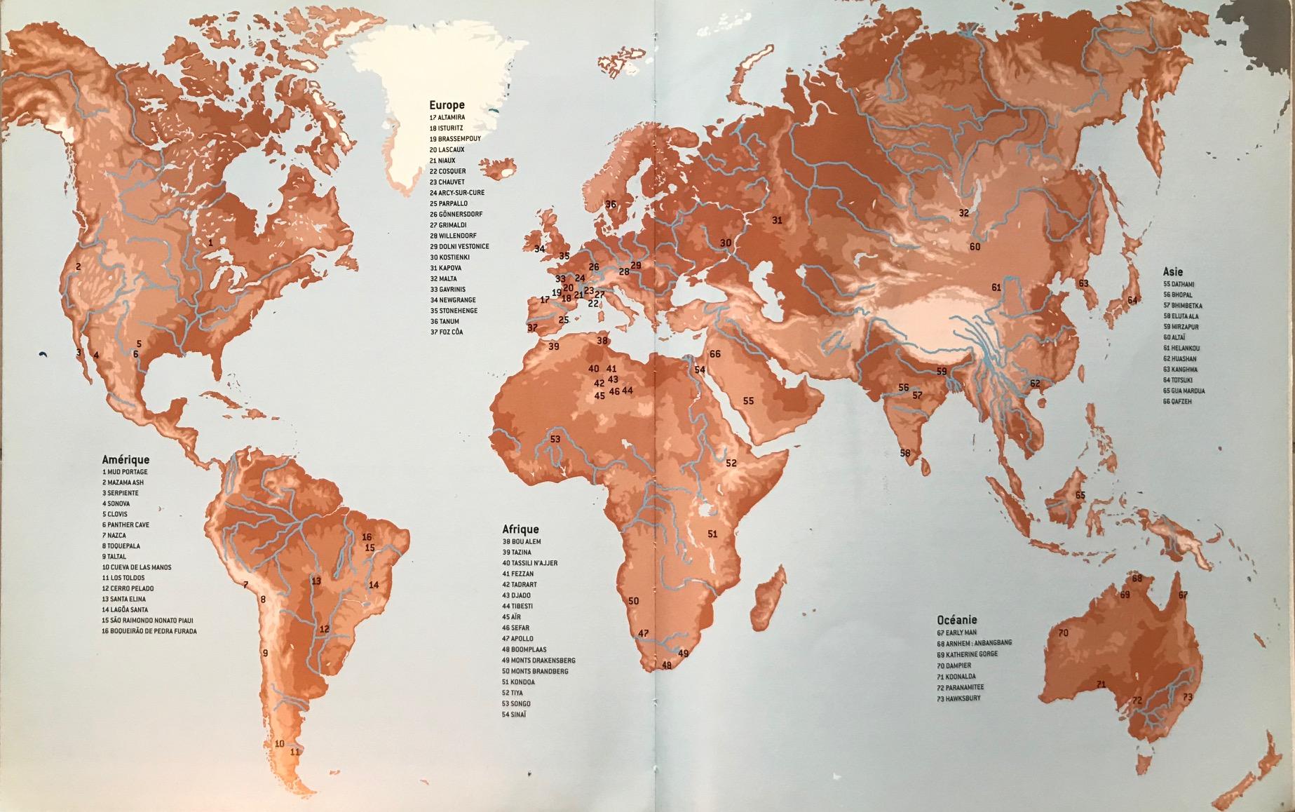 carte des grottes préhistoriques