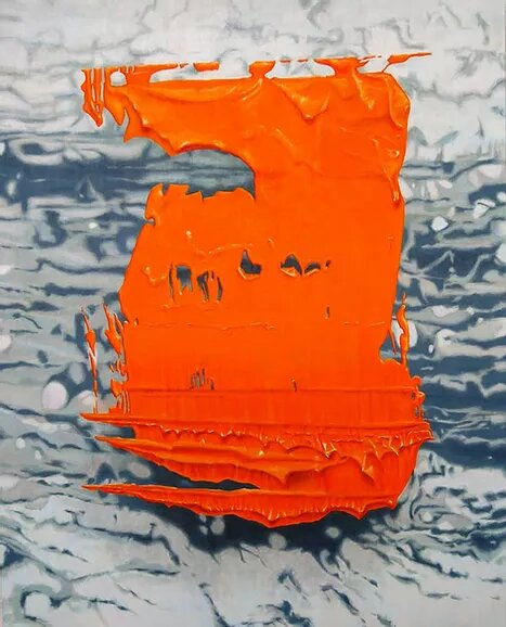 Art couleur orange
