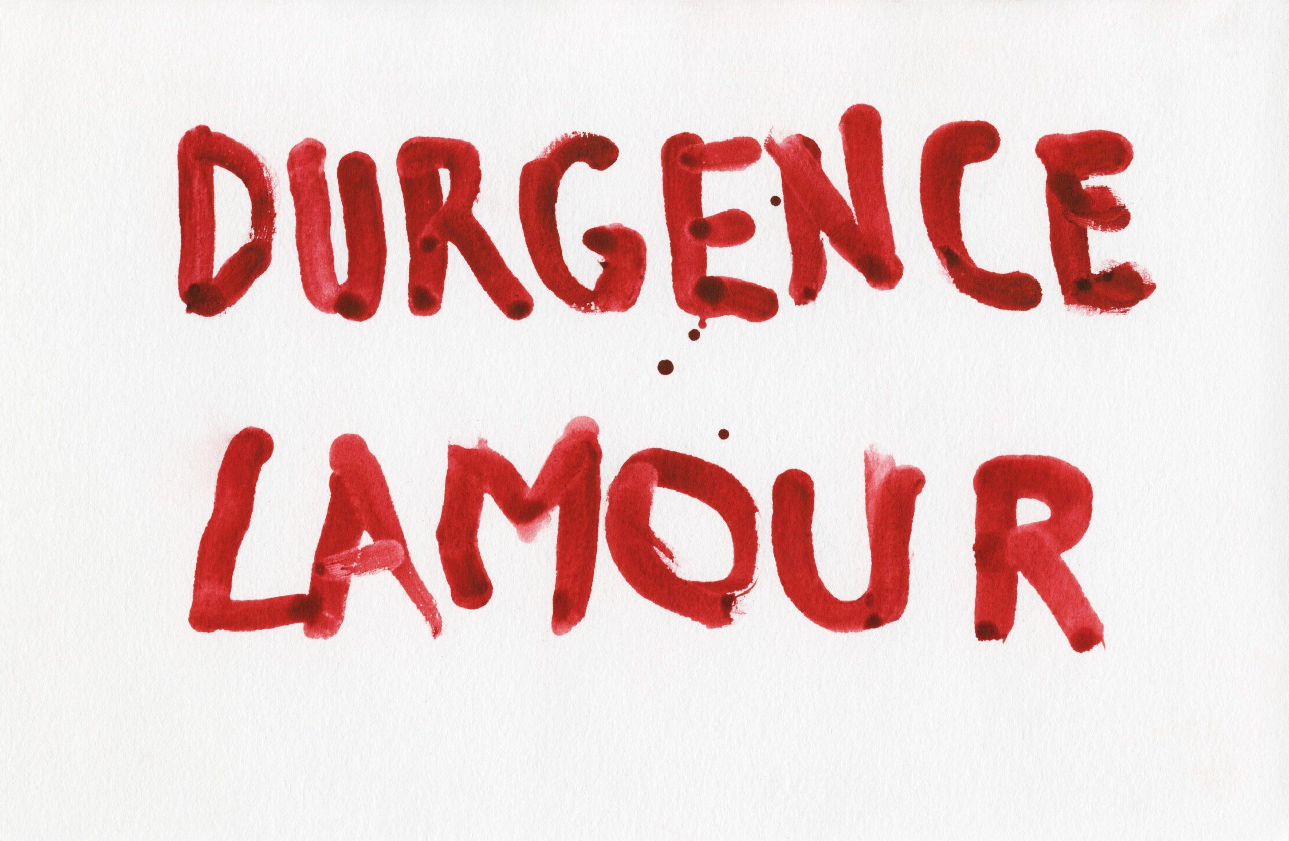 Peinture rouge art l'amour