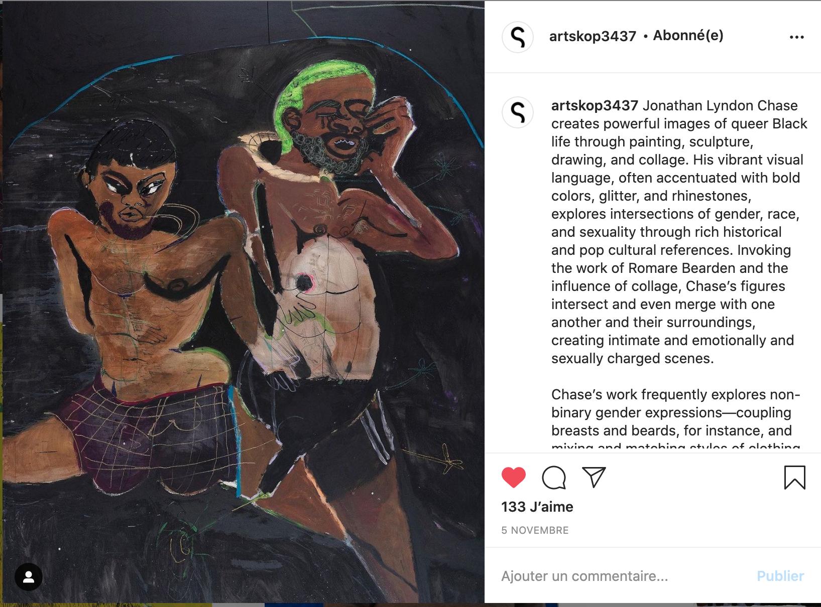 instagram artskop peinture hommes noirs