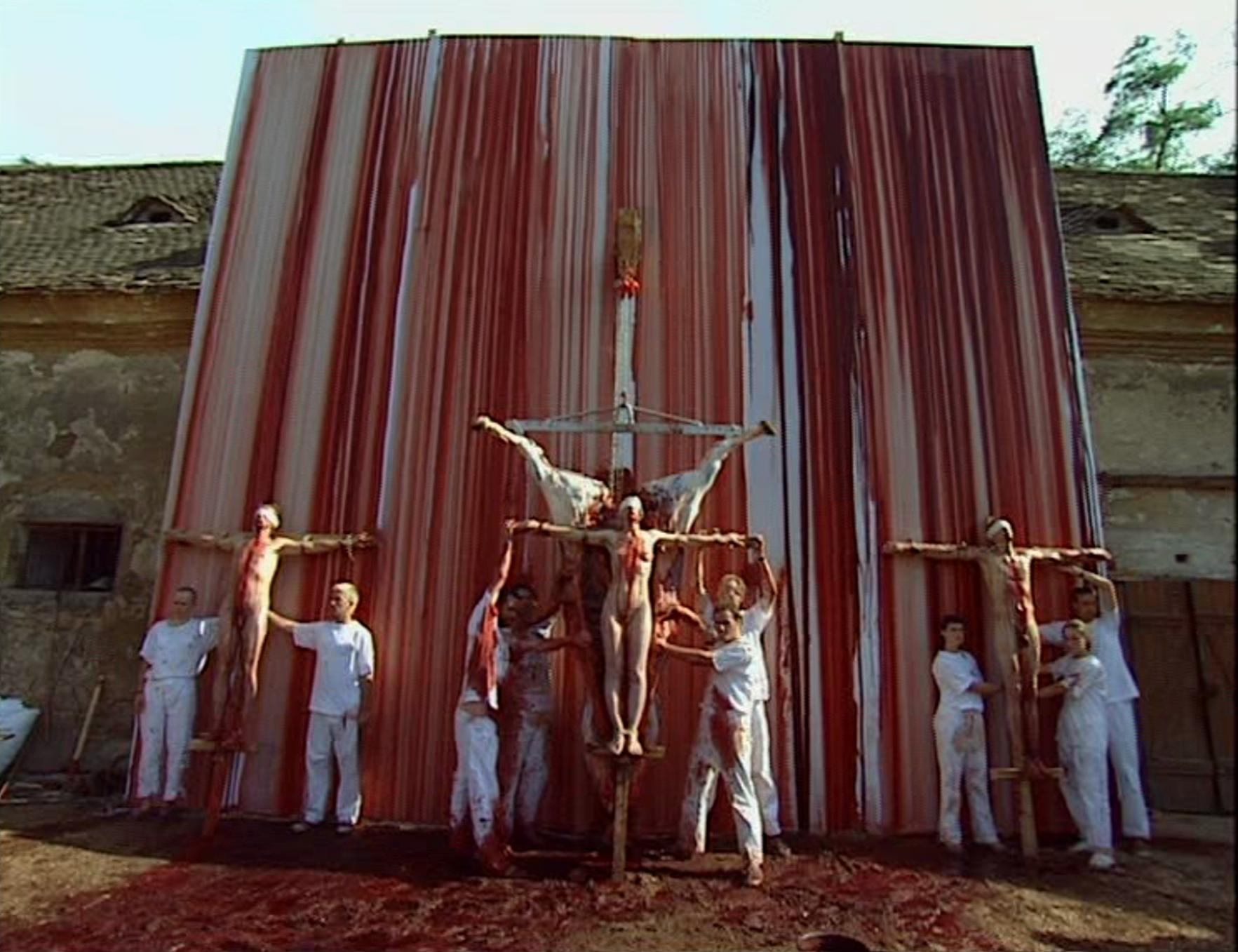 Crucifixion chez Hermann Nitsch